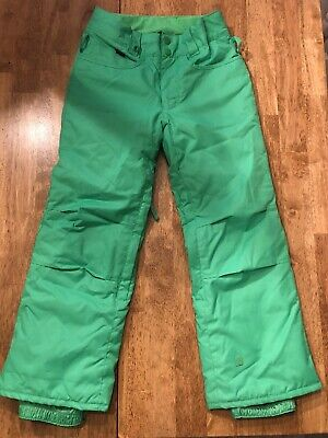 Boy's Quicksilver Snowboard pants  Green  XS (8)