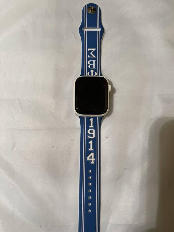 Phi Beta Sigma Watch Band Strap Silicone Size 42/44