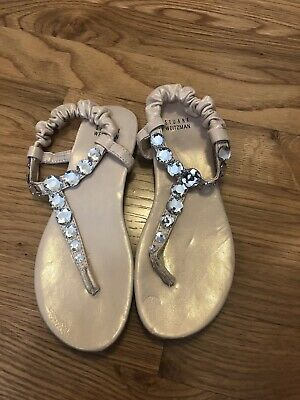 Stewart Weitzman, Girls Size 1, Light Pink Sandal With Jewels