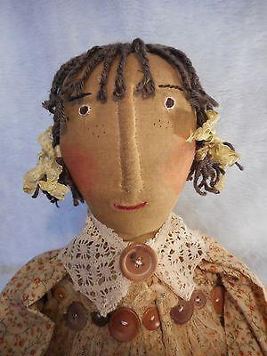 PATTERN, Primitive raggedy Annie folk art doll pattern by Dumplinragamuffin