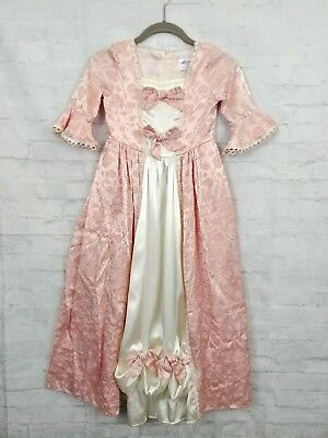 Storybook Heirlooms Historical Colonial Costume Dress Girls Size 7 Pink Hamilton - Historical Costumes For Girls