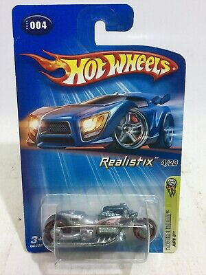 2005 Hot Wheels #004 First Editions Realistix 4/20 : Airy 8 - Silver MOTORCYCLE