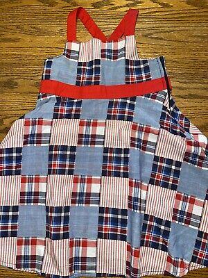 Gymboree Girls Size 5 Fourth Of July, Patchwork Sleeveless Dress Worn One Time