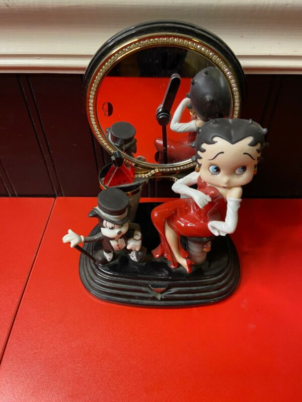The Betty Boop Party Time Clock Limited Ed. Issue Rare Danbury Mint N/M 1998 KFS
