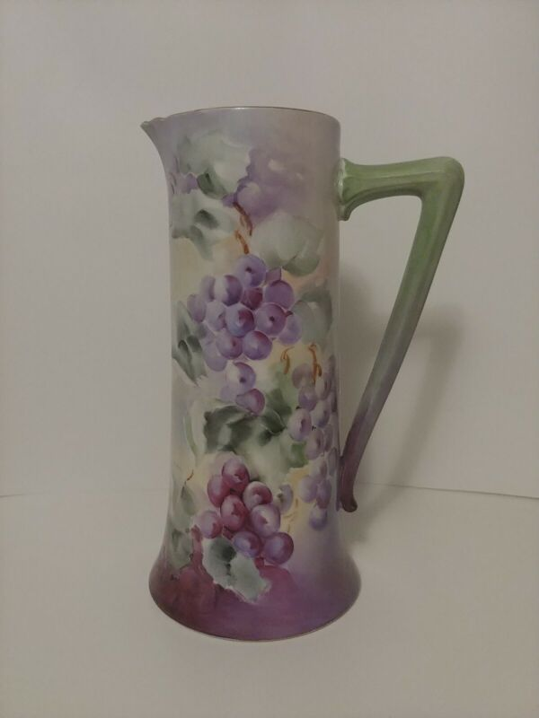"""B & C France Ewer Pitcher with Gilded Rim - 12 1/4"""" Tall"""