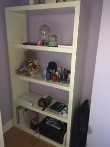 White Bookshelf with free BONUS wall mirror