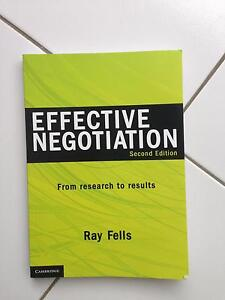 Effective Negotiation Textbook Bligh Park Hawkesbury Area Preview