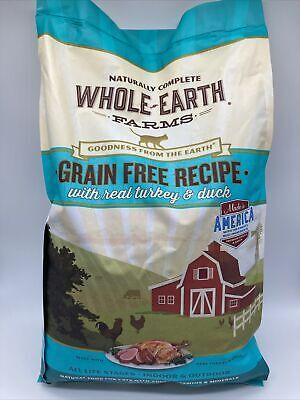 Whole Earth Farms Grain Free Real Turkey & Duck Recipe Dry Cat Food READ
