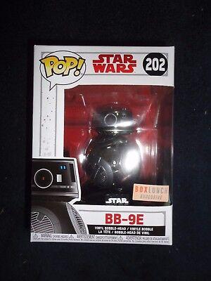 Funko Pop! STAR WARS The Last Jedi BOX LUNCH Exclusive Chrome BB-9E #202, New