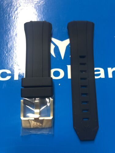 black silicone strap with gold buckle 45mm
