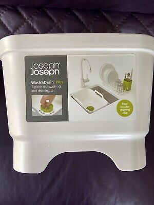 Joseph Joseph New Washing Up Bowl With Removable Dish Rack & Cutlery Pot RRP £35