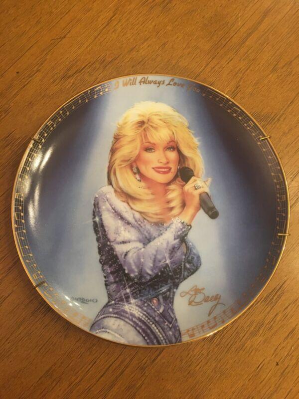 "Rare Dolly Parton ""I Will Always Love You"" Bradford Exchange Plate 1993"