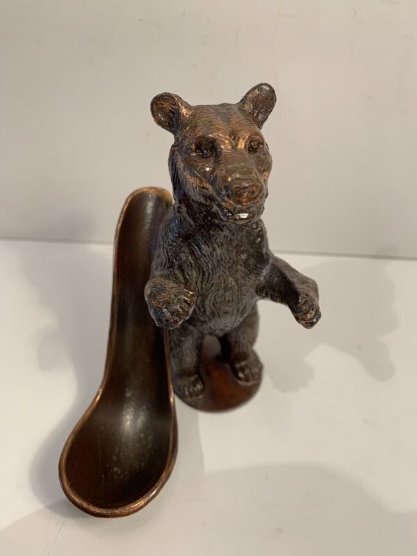 Vintage Copper Figural Grizzly Bear Pipe Holder