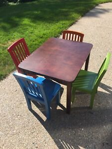 KidKraft Wooden Child's Table with 4 Chairs