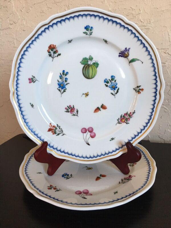 "Richard Ginori Italy 1735 ITALIAN FRUIT ~ Two Dinner Plates 10 3/8"""