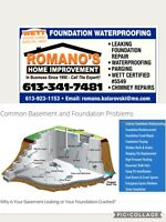Leaky Foundations Repairs