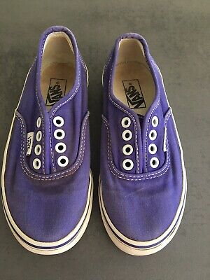 Vans pumps junior size 11 purple Unisex
