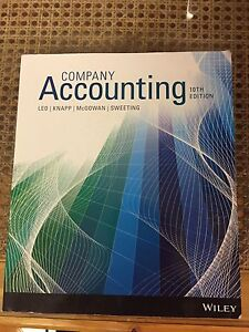 Company Accounting 10th edition Macgregor Brisbane South West Preview