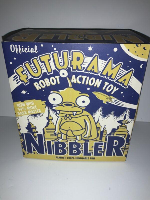 Futurama NIBBLER Rocket USA Tin Robot Action Toy New In Box