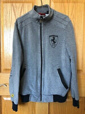 Puma Scuderia Ferrari Official Full Zip-Up Jacket Grey Black Medium