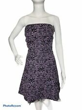 tripp nyc womens m purple damask black tulle corset