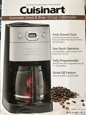 Cuisinart DGB-625BC Automatic Grind & Brew 12 Cup Coffee Maker - Black &