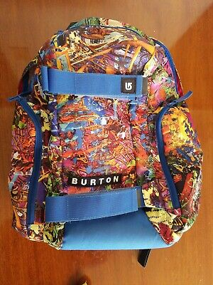 BURTON Backpack/skate bag w/ Board Straps multi color w/ lots of pockets