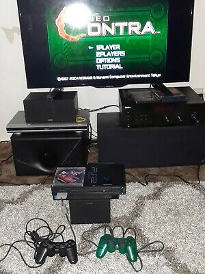 SONY PlayStation 2 Console Bundle- 2 Controllers, cords, 2 games, memory card