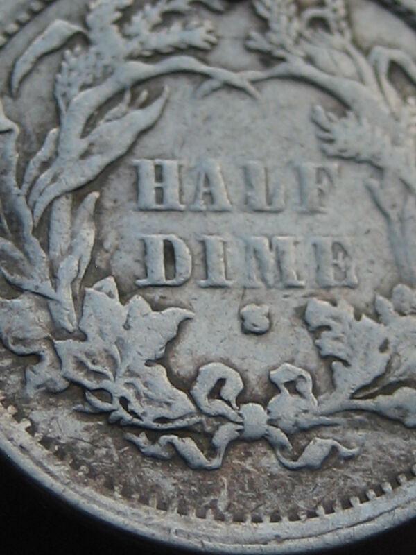 1871-S Seated Liberty Half Dime- Semi Key Date
