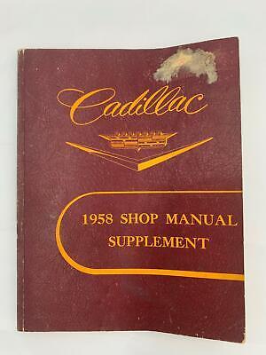 1958 Cadillac ORIGINAL Shop Manual El Dorado Deville Special Fleetwood Series