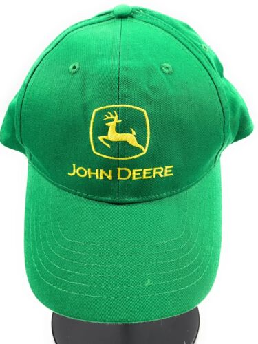 John Deere Embroidered K-Products Snapback Baseball Cap Hat 100% Cotton Green