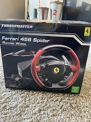 Thrustmaster Ferrari 458 Racing Wheel & Pedals For Xbox One FOR PARTS ONLY