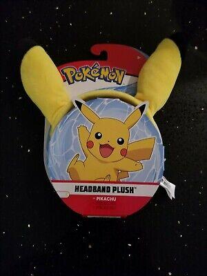 Pokemon Headband Pikachu Plush Ears Brand New - Great For a Costume
