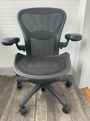 Herman Miller Aeron Office Chair - Graphite Size B Fully Loaded