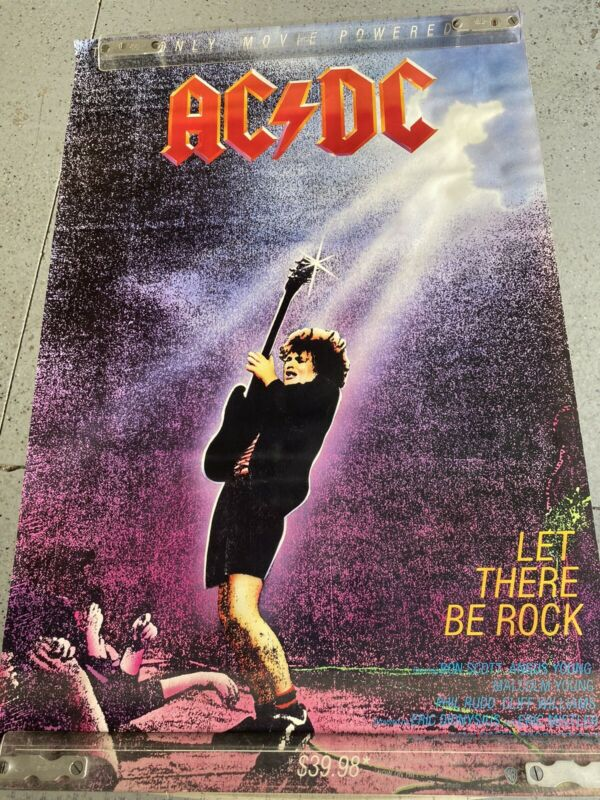 1982 AC-DC Original Promotional Movie Poster Let There Be Rock Angus Young