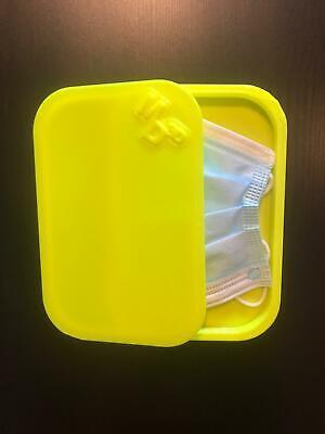 Porta mascherina custodia cover contenitore personalizzabile gialla