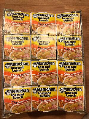 Maruchan Cup Noodles Chicken Flavor Ramen Noodle Soup, Pack Of 24, 2.25 oz -