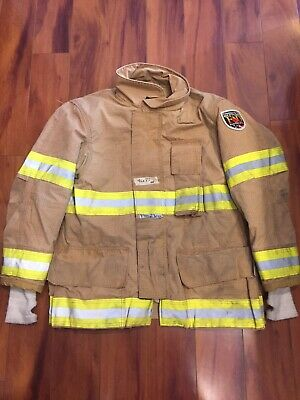 Fire Dex Firefighter Turnout Bunker Coat 42x32 2005 No Cut Out Euc
