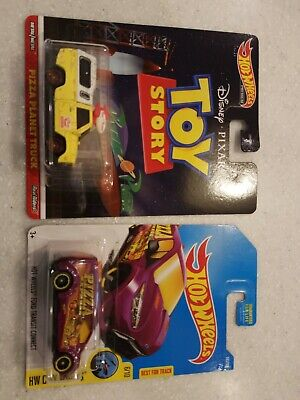 Hot Wheels Toy Story Pizza Planet Truck With Bonus Ford Transit Pizza Truck