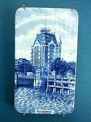 "Societe Ceramique Maestricht Holland (ROTTERDAM WITTE HUIS.) 6"" Delft Blue Tile"