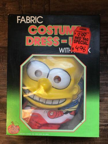 "1989 (Ben Cooper) ""THE SIMPSONS"" (BART SIMPSON) Halloween Costume & Mask, RARE!"