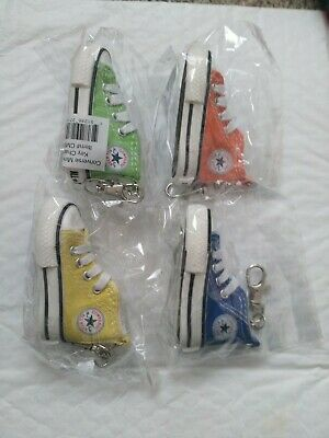 Converse All Star Chuck Taylor Sneaker Shoe Keychain 4 pk /LOT of 4