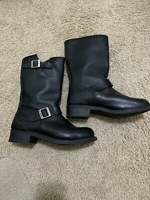 Xelement motorcycle boots Men's 11W Leather Excellent Cond.