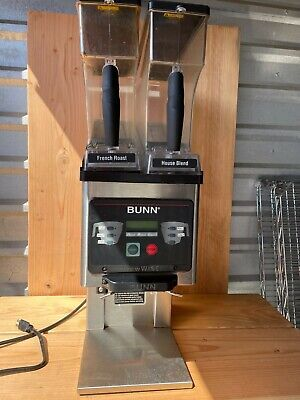 Bunn Mhg Commercial Dual Hopper Coffee Grinder Brewwise Tested And Works Great