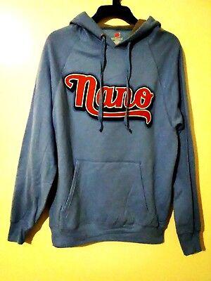 Hanes Nano Sky Baby Blue Pullover Sweatshirt Hood Hoodie Mens Size M Medium (Blue Infant Pullover Hoody)