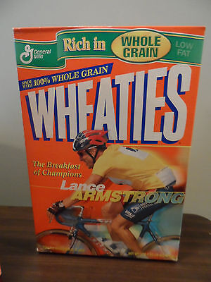 Whole Grain Wheaties Lance Armstrong Cereal Box BRAND NEW Never Opened