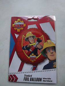 NEW FIREMAN SAM PARTY BIRTHDAY  FOIL BALLOON 17in 43 cm FIREHOSE XL
