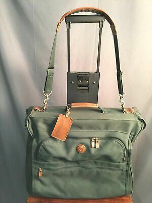 Samsonite Rolling Garment Bag Vintage Green Travel Bag