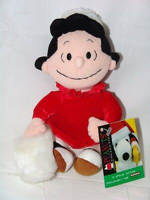 """Peanuts Lucy 9"""" Holiday/Winter Plush Bean Bag/Beanie Doll Applause Kohl's Snoopy"""