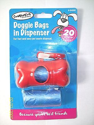 dog poo Bags Pet Products Doggie Bags in Dispenser 40 Bags plus 150 extra bags